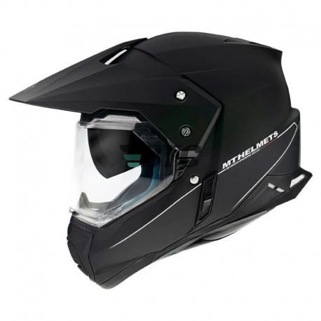 Casque Moto Cross synchrony duosport double ecrans noir mat