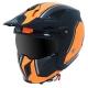 MT Casque Trial Cross Streetfighter version Noir Orange