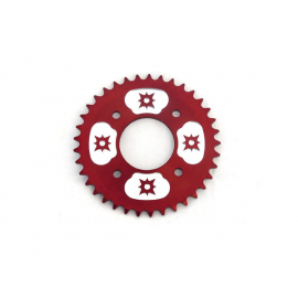 Couronne 420 - 58mm - 37 Dents - Alu - Rouge