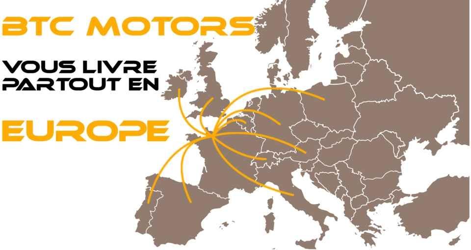 BTC Motors livre vos quads et motos partout en europe